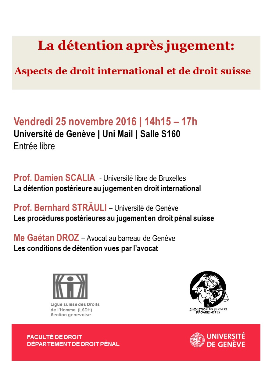 Colloque du 25 novembre 2016